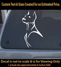 Doberman Decal Vinyl 6 inch dog pet lover sticker for car home laptop decor 02