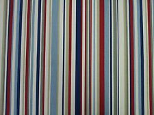 MARSON FUNKY STRIPE BLUE RED STRIPE DESIGNER CURTAINS BLINDS FABRIC