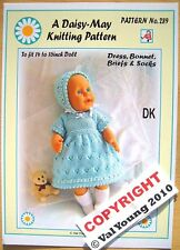 "1 DOLLS KNITTING PATTERN for  14""16"" doll No 289 by Daisy-May Publications"