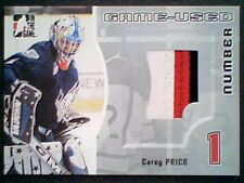 CAREY PRICE  05/06 AUTHENTIC PIECE OF A GAME-USED NUMBER JERSEY /30