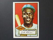 Jackie Robinson 1983 Topps 1952 Reprint #312 Brooklyn Dodgers NM-MT