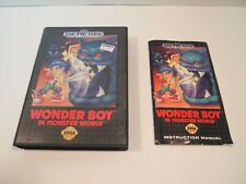 WONDER BOY in MONSTER WORLD (Sega GENESIS) Original AUTHENTIC Case + Manual
