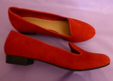 Marks & Spencer UK4.5 EU38.5 US6.5 new red suede (leather) pumps/flat shoes