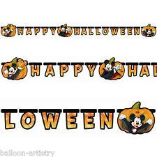 Happy Halloween Disney Mickey Mouse Fiesta recorte Carta Banner Decoración