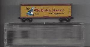 Kadee N Trains #49010 40' DBL Old Dutch Cleaner Wood Reefer NIB Free Shipping