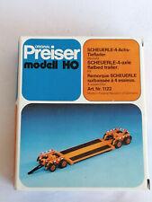 Preiser Modellbau H0 1122 SCHEUERLE-4-Achs-Tieflader