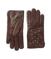 Coach Star Studded Burgundy Leather Gloves Women's 60615 Size 6.5