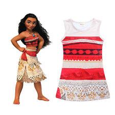 Disney Moana Princess Fancy Dress Costume Girl's Kids Costume Sleeveless Dress