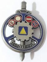 Brevet Moniteur Conduite Auto Ecole ARGENT / IEC - Armée française & LÉGION 4°RE