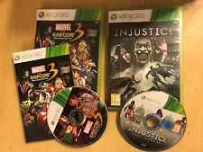 2 x PAL XBOX 360 MARVEL Vs CAPCOM 3 FATE OF TWO WORLDS + INJUSTICE GODS AMONG US