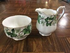 Vintage Royal Albert IVY LEA Mini Creamer & Open Sugar Set 1950s-60s