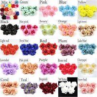 20/80Pcs 8cm Artificial Silk Fake Peony Flowers Heads Wedding Bouquet Home Decor