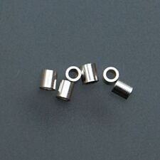 Sterling Silver Tube Crimp Beads, 2 X 2 Millimeters, Pack of 100 | BDS-110.06