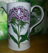 """PORTMEIRION STOKE ON TRENT SWEET WILLIAM FLORAL PITCHER BUTTERFLIES GC 6 7/8""""BIG"""