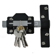 "2""/50mm Long Throw Gate Lock Garden Double Locking Both Sides 5 Keys"