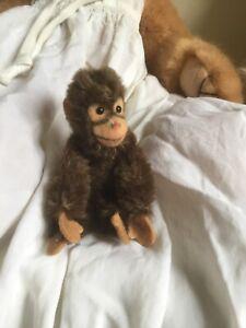 """STEIFF vintage miniature Jocko Monkey with button - 4"""""""