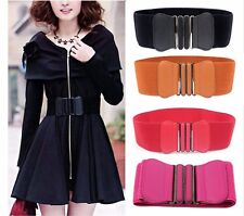 Women Ladies Fashion Wide Elastic Stretch Corset Cinch Waistband Waist Belt