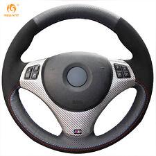 Suede Steering Wheel Cover for BMW E90 320i 325i 330i 335i E87 120i 130i #BM64