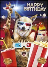GOGGLIES 3D MOVING EYE FUNNY ANIMALS  3D GLASSES BIRTHDAY GREETING CARD1STP&P