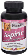 NUTRIVET Liver Flavored Aspirin 300 mg For Medium And Large Dogs 75 Chewables