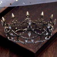 Vintage Baroque Pageant Party Wedding Bridal Crystal Queen Crown Tiaras Prom
