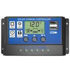 PWM Solar Charge Controller 12V 24V LCD Display Dual USB Solar Panel Charger