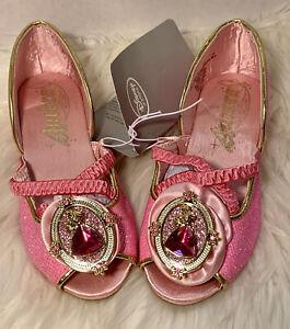 DISNEY STORE Girls Princess Aurora Sleeping Beauty Costume Shoes NEW Sz 11/12