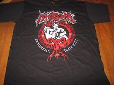 """NUNSLAUGHTER """"Colombian Tour 2013"""" T - Shirt L  demoncy goatlord midnight"""
