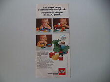 advertising Pubblicità 1977 LEGO
