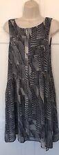 Mint Velvet Dress Summer Asymmetric Geo Trapeze Grey Multi 8 BNWOT