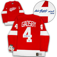 Bill Gadsby Detroit Red Wings Autographed Fanatics Vintage Replica Hockey Jersey