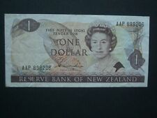 **Decent  'AAP' ** $1 Crisp  'AVF'  Hardie New Zealand 1981 Banknote***