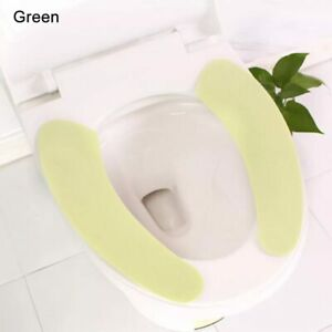 Reusable Toilet Seat Filling Mat Seat Cover Warm Plush Bathroom Seat Cover New