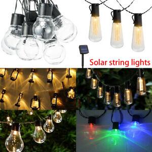 Solarleuchten Außen Fairy Garten Festoon Party LED Retro Glühbirne Lichterkette
