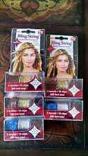 As soon seen on TV Bling String Sparkly Hair Strands Clips Extensions all colors