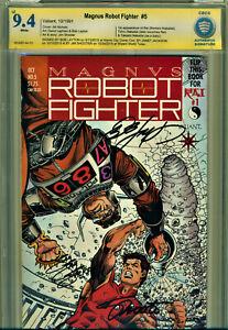 MAGNUS ROBOT FIGHTER #5 CBCS 9.4 3X SIGNED SHOOTER/LAYTON/JACKSON! 1ST RAI!