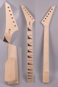 Maple Guitar Neck 24fret 25.5inch Jackson Style Shark Fin Inlay Reversed Head