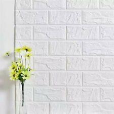 Pannello Adesivo Muro 3D Mattoni Pietra Bianco Carta Rivestimento Parete 34x33cm