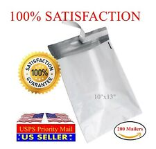 "200 10""x13"" Light Poly Mailer 2 Mil Shipping Mailing Packaging Envelope Bags"