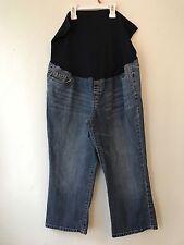 Liz Lange Maternity Denim Capri Pants Women's Size 14