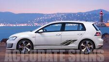 VW Golf MK6 MK7 Set grafica GTD Adesivi Strisce Auto Decalcomanie Qualsiasi Colore