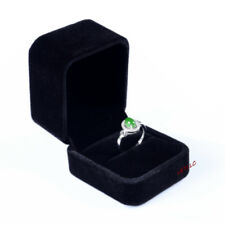 Deluxe Black Velvet Ring Earring Box Proposal, Engagement Pocket size High Qlity