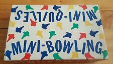 Vintage mini-bowling game , mini-quilles jeux ( canadian )