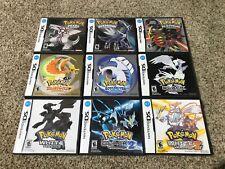 Pokemon DS Cases Lot Pearl Diamond Platinum HeartGold SoulSilver Black White 2