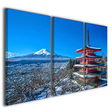 Quadri moderni Japan II giappone giapan monte fuji stampa tela canvas ® quality
