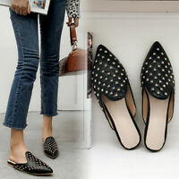 Pointed Slipper Mules Women's Summer Loafers Rivet Shoes Fashion Casual S259