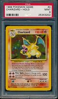 PSA 9 CHARIZARD 1999 Pokemon Base Unlimited #4/102 Holo Rare Non-Shadowless MINT