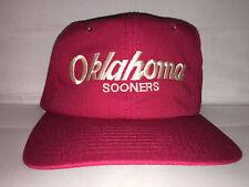 Vtg Oklahoma Sooners Snapback hat cap NCAA College Football 90s SCRIPT rare og