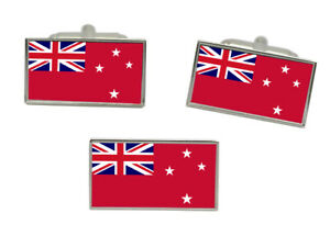 New Zealand Red Ensign Flag Cufflink and Tie Pin Set