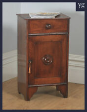 Antique French 3rd Republic Walnut Bedside Chest Pot Cupboard Night Stand